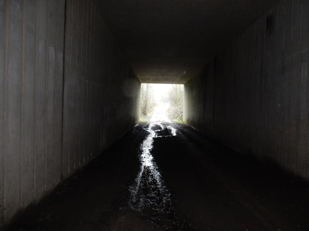 Through a tunnel Tadworth Circular