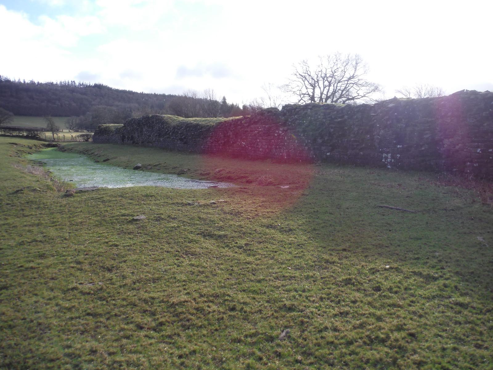 Wall Remnants of Y Gaer (Cicucium Roman Fort) SWC Walk 306 - Brecon Circular (via Y Gaer, Battle and Pen-y-crug)