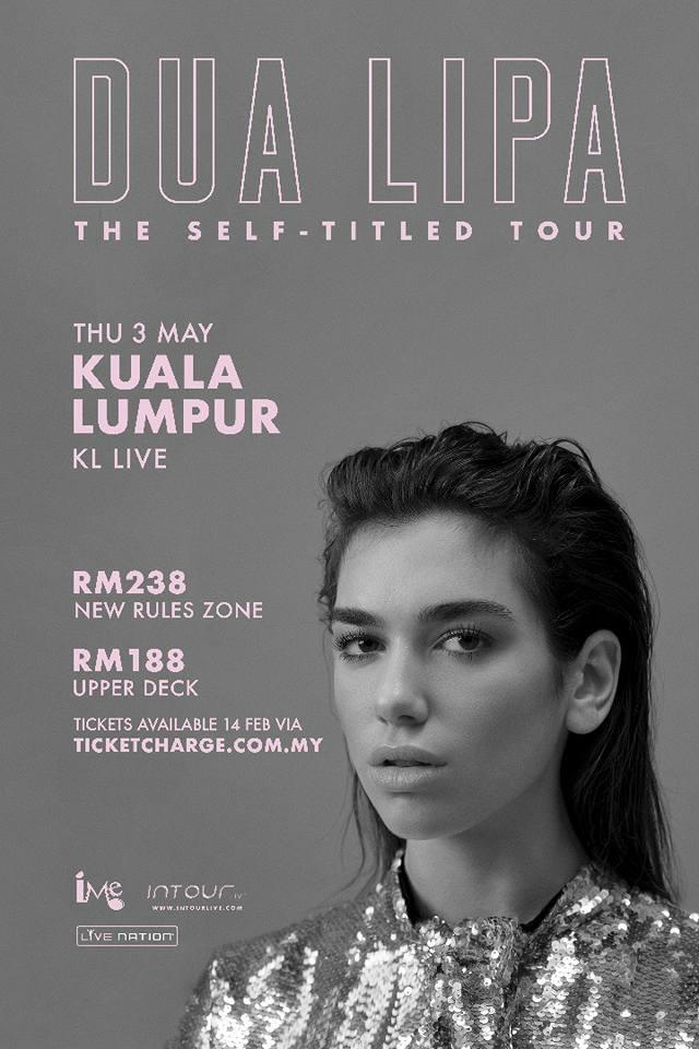 Konsert Dua Lipa The Self-Titled Tour di KL Live