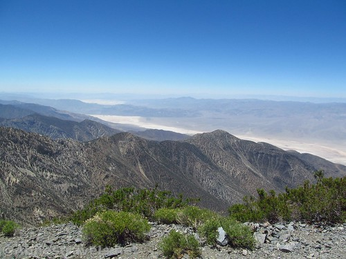Views to the southwest from Telescope Peak over China Lake, Death Valley National Park, California