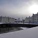 Snowy Whitehaven Harbour