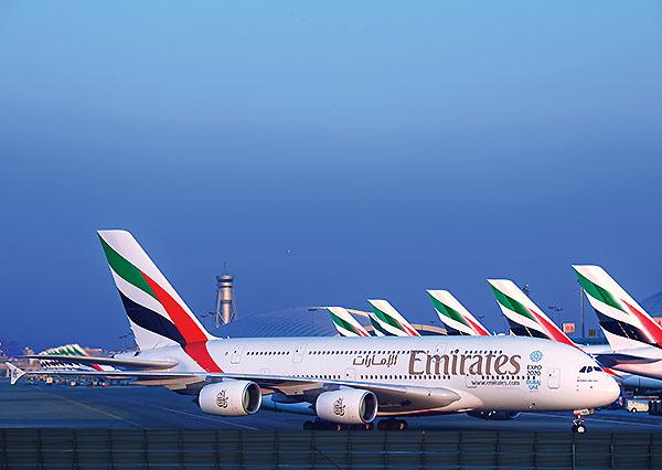 Emirates A380 at DXB (Emirates)