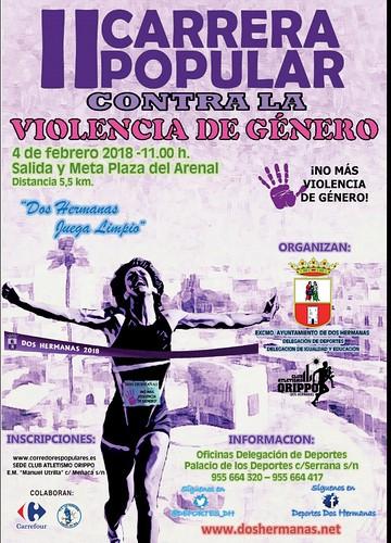 Cartel de la II Carrera Popular contra la Violencia de Género