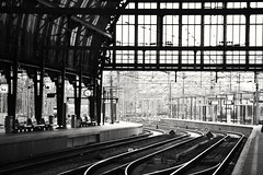 #amsterdam #holland#netherlands #centraal #train #station #blackandwhite