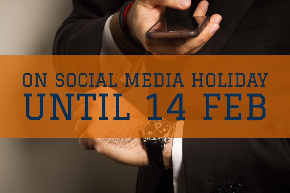 Social Media Holiday for Alon Ben Joseph until 14 February 2018