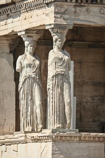 Karyatids, Erechtheum, Acropolis, Athens 6/23/13