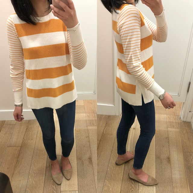 LOFT Mixed Stripe Sweater, size XS regular