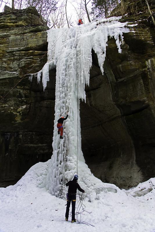 Climbing Tonti Falls