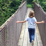 Sat, 08/09/2014 - 2:08pm - Gorge Swinging Bridge over the Whitewater River, Richmond, IN