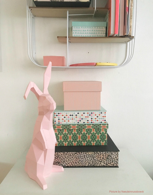 Rabbit Paper Craft Model by Paperwolf