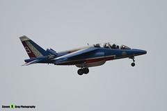 E41 F-TERH 9 - E41 - Patrouille de France - French Air Force - Dassault-Dornier Alpha Jet E - RIAT 2008 Fairford - 070711 - Steven Gray - IMG_7115