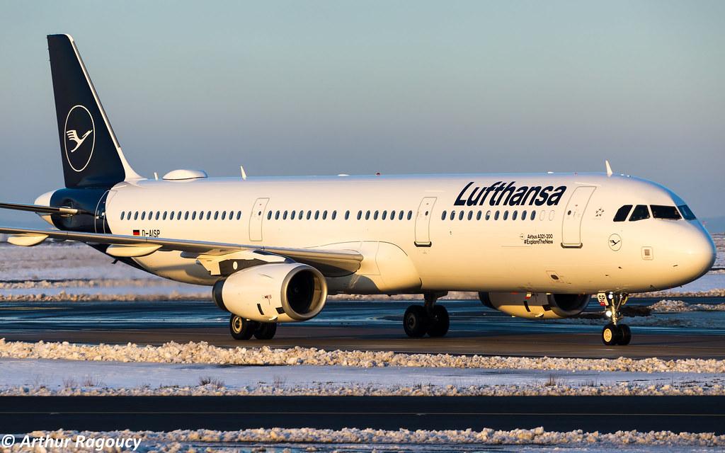 Lufthansa Airbus A321-231 D-AISP (CDG)