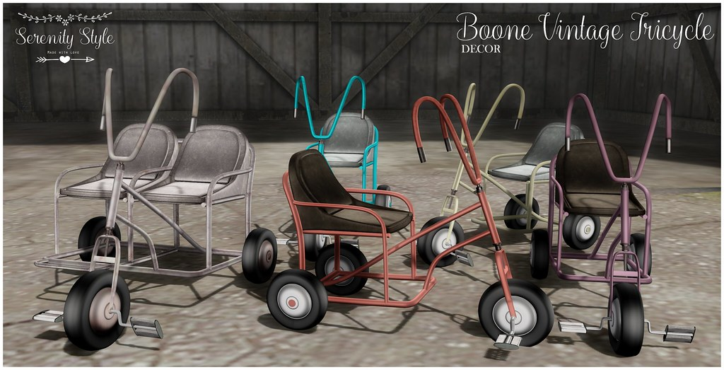 Serenity Style- Boone Vintage Tricycle - TeleportHub.com Live!