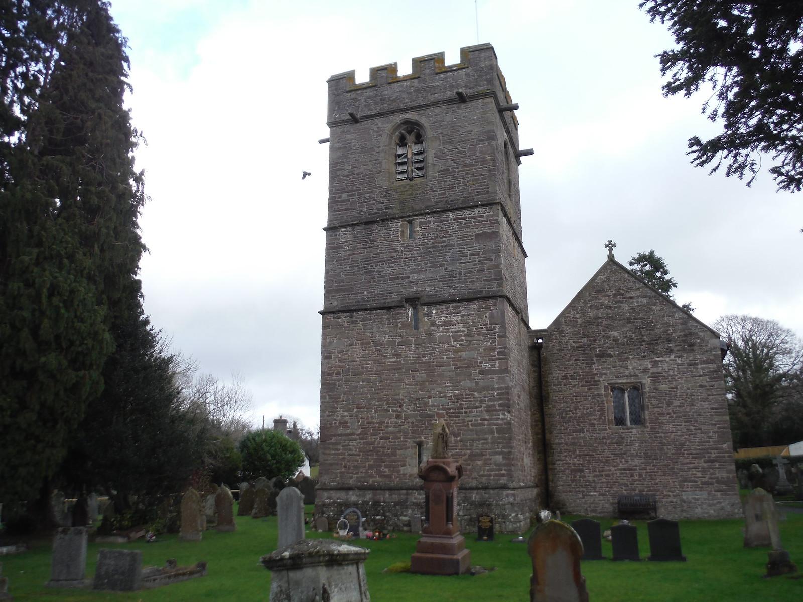 St. Paulinus Church, Llangors SWC Walk 308 - Bwlch Circular (via Mynydd Troed and Llangorse Lake)