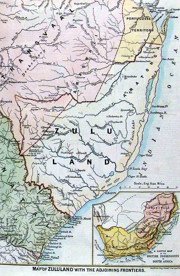 Map of Zululand, 1879.
