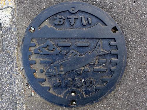 Akiruno Tokyo, manhole cover 2 (東京都あきる野市のマンホール2)