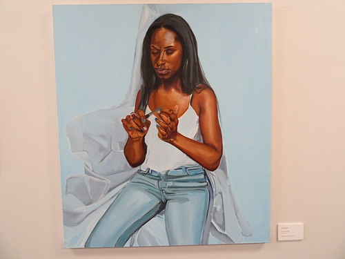 Q'shaundra James Wait Till She Looks Up Oil on canvas Student Union Permanent Collection 2016