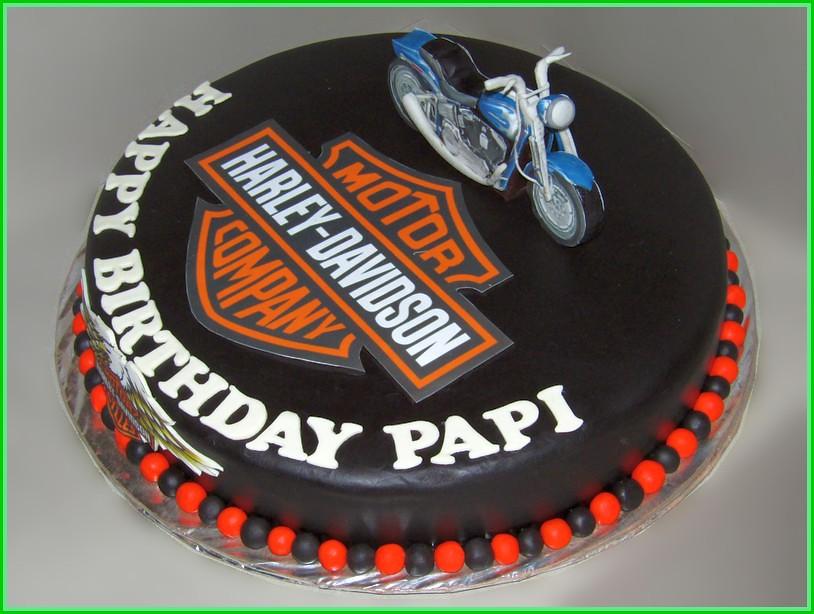 Cake Motor Harley Davidson PAPI 35 cm