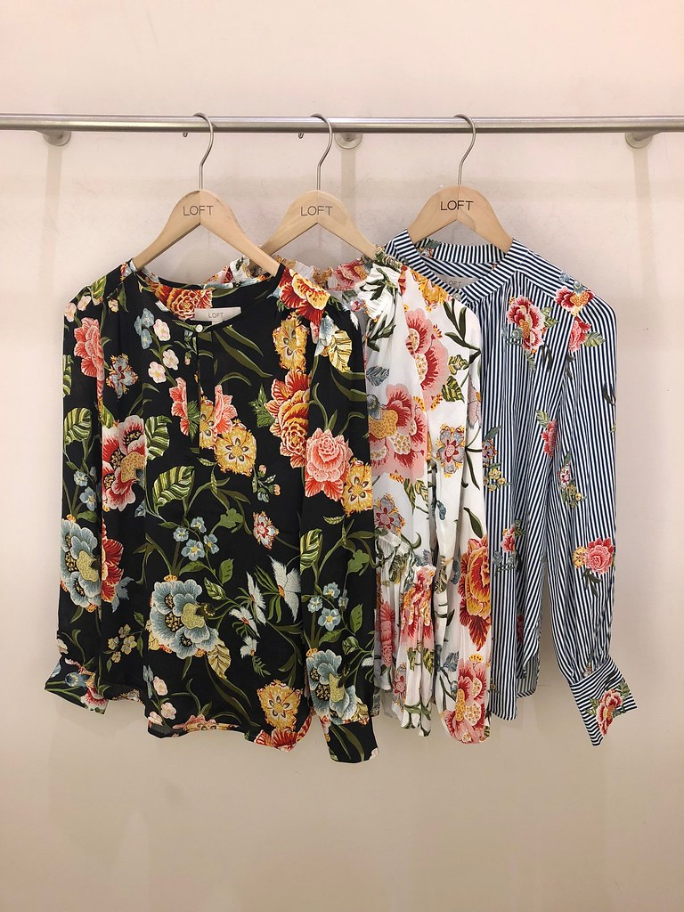 LOFT Early Spring '18 Floral Print Blouses