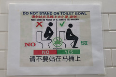 Do Not Stand on Toilet Bowl in Many Languages