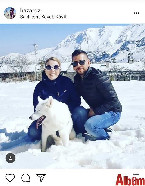 Hazar Özsüer, Saklıkent Kayak Köyü'nde oldukça keyifli bir gün geçirdi.