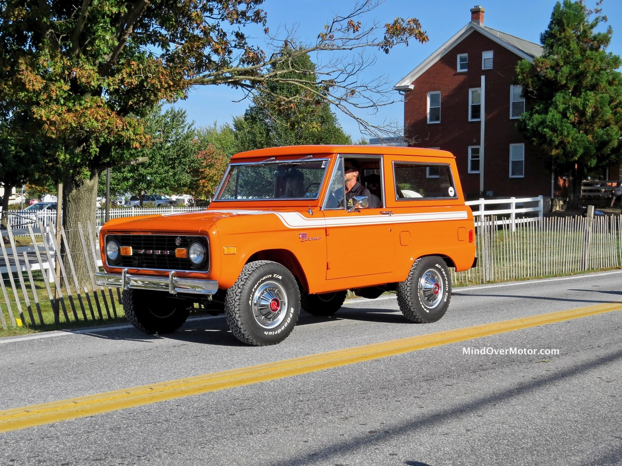 Orange Ford Bronco Front