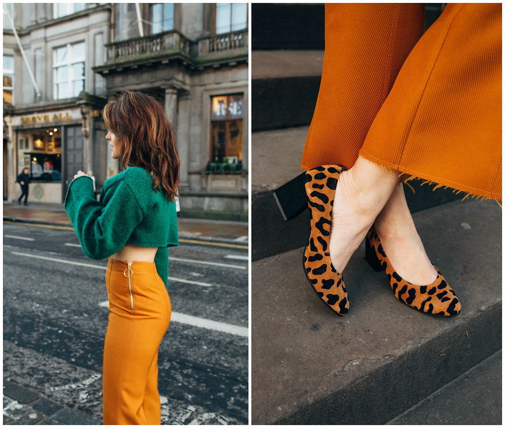 The Little Magpie Topshop Mustard Trousers Edinburgh