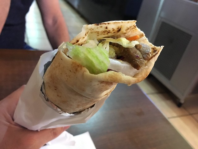 Lamb kebab roll - The Kebab House