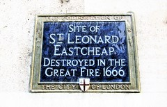 Photo of St Leonard Eastcheap, London blue plaque