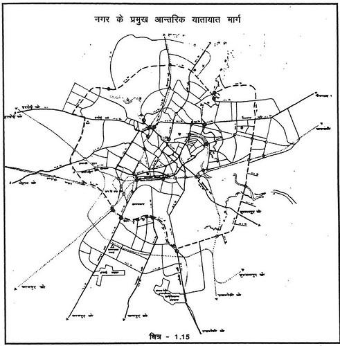 नगर के प्रमुख आन्तरिक यातायात मार्ग