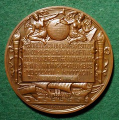1893 Columbian Exhibition Award Medal reverse