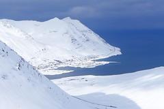 Skitouren auf Island, der Fjord von Siglufjördur auf der Trollhalbinsel. Foto: Günther Härter.
