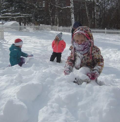 a snowy girl