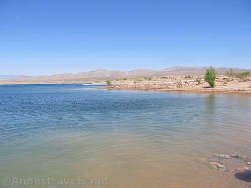Views across the swimming area at Echo Bay in Lake Mead National Recreation Area, Nevada