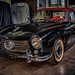 The legendary classic car Mercedes Benz SL Cabriolet