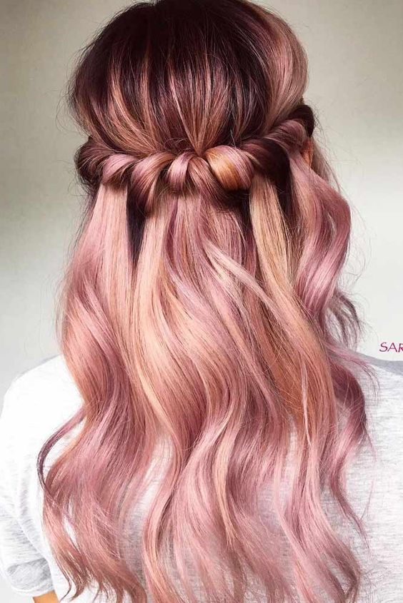 rose-gold-hair-dye-esalon-ombre-balayage-hairstyle-coachella