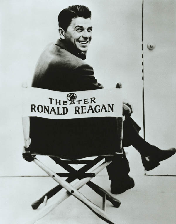 Ronald Reagan on the set of General Electric Theater, circa 1955.
