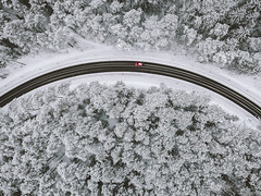 Winter road   Kaunas County Aerial #20/365