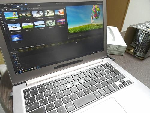 ASUS UX303UB で動画編集ソフトを起動