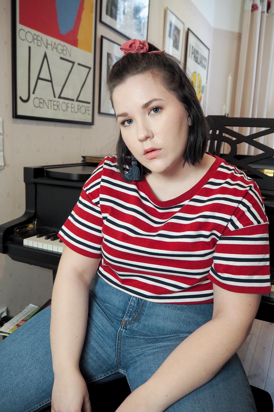 Onko bloggaaminen työtä, levis raitapaita, monki mom jeans-2
