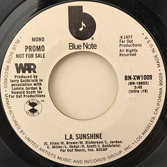 WAR:L.A. SUNSHINE(LABEL SIDE-B)