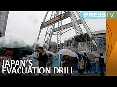 Press TV News : Hundreds participate in Tokyo's first evacuation drill