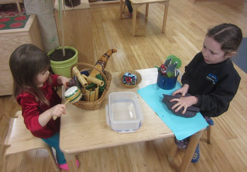 instruments and play dough