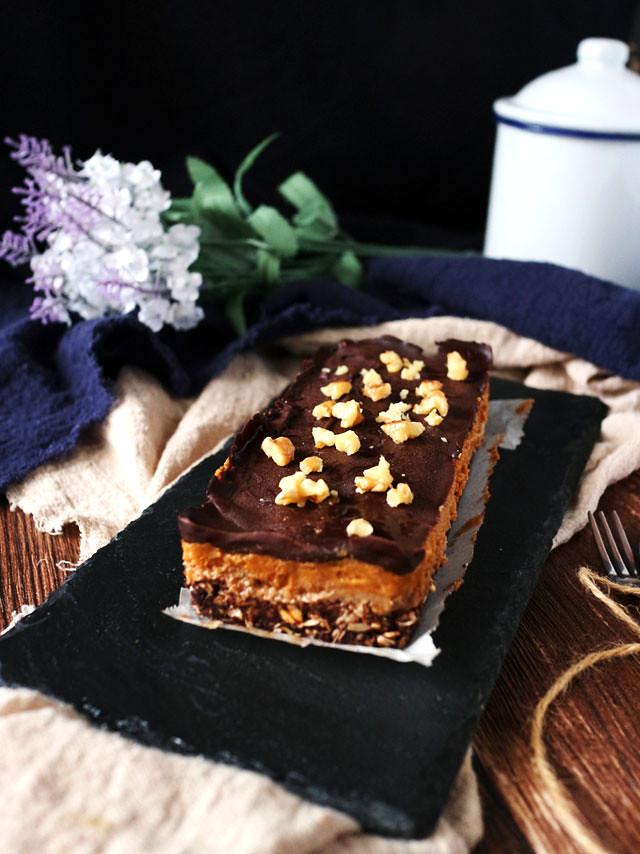 巧克力香料南瓜焦糖條 Chocolate Spiced Pumpkin Caramel Bars (1)