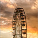 Wheel at sunset by mikeyp2000