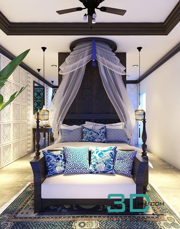 150  Bed Room 3dsmax File Free Download - 3D Mili - Download