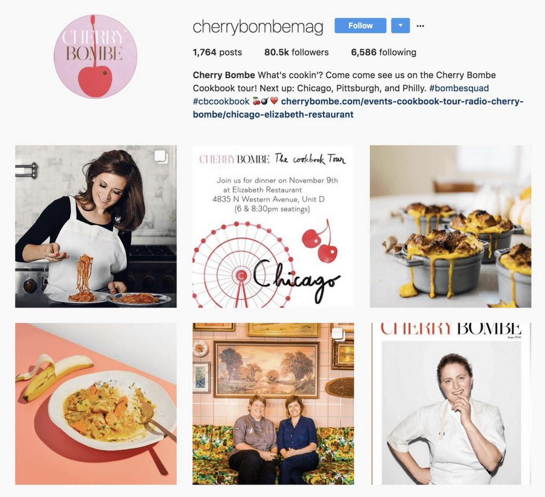 instagram biografia cherry bombeng