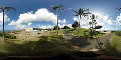 Near the Keawe Street Canal at the Kaka'ako Waterfront Park in Honolulu -a 360 equirectangular VR