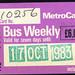 ticket - wypte metrocard weekly 10-83