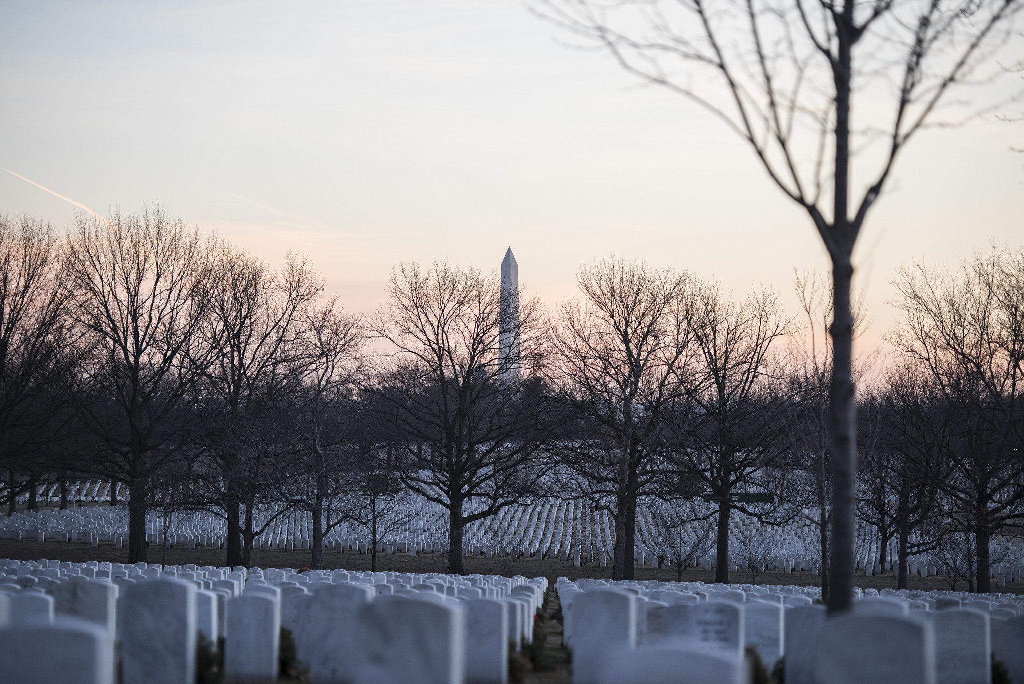 Photo of sunrise at the cemetery